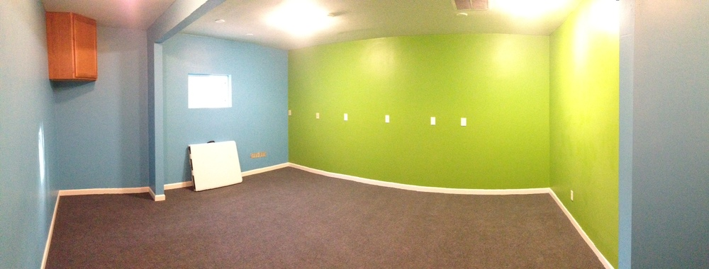 A panoramic view of the new office