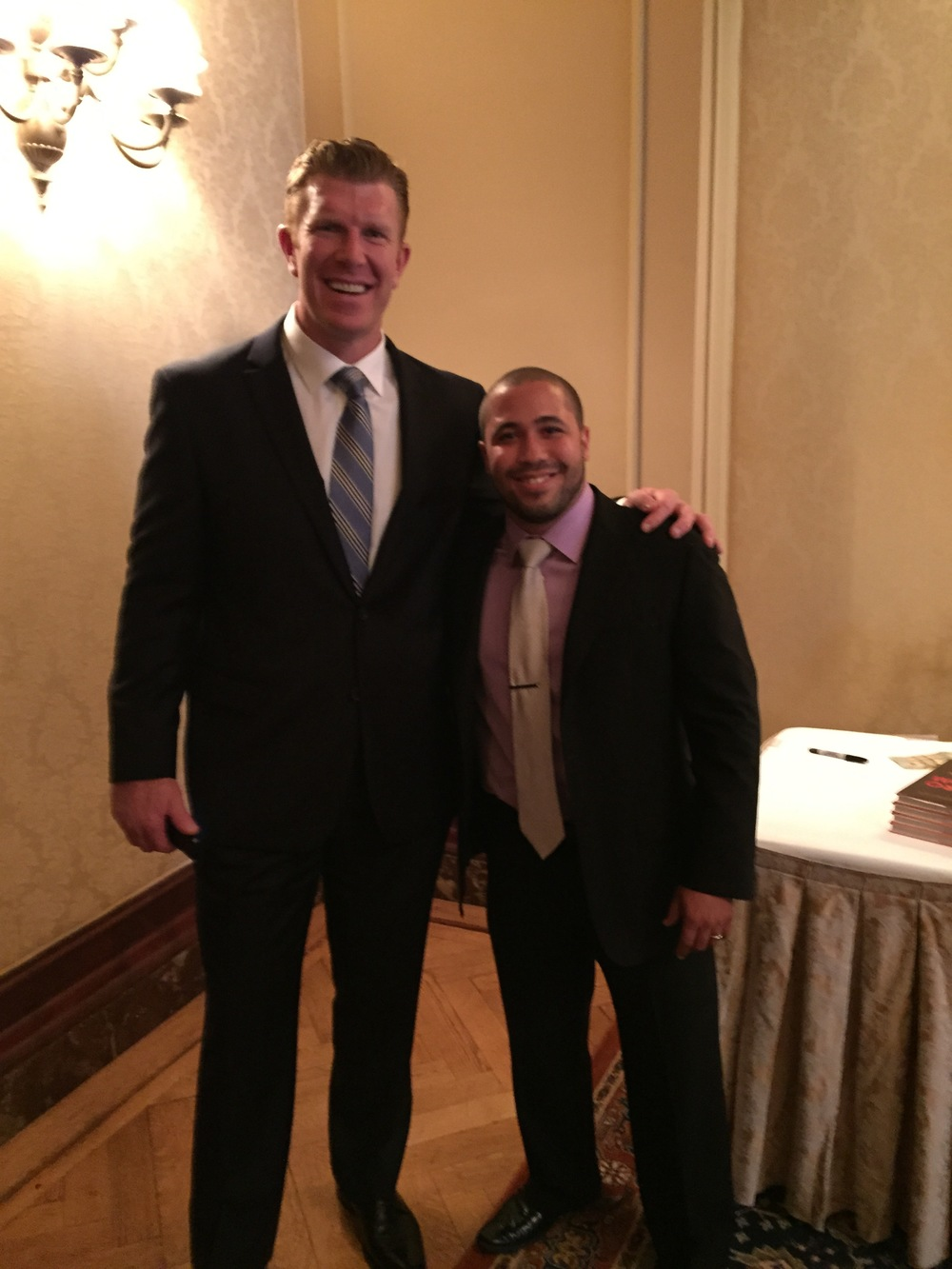Matt Birk with Mission Director Jimmy Abreu