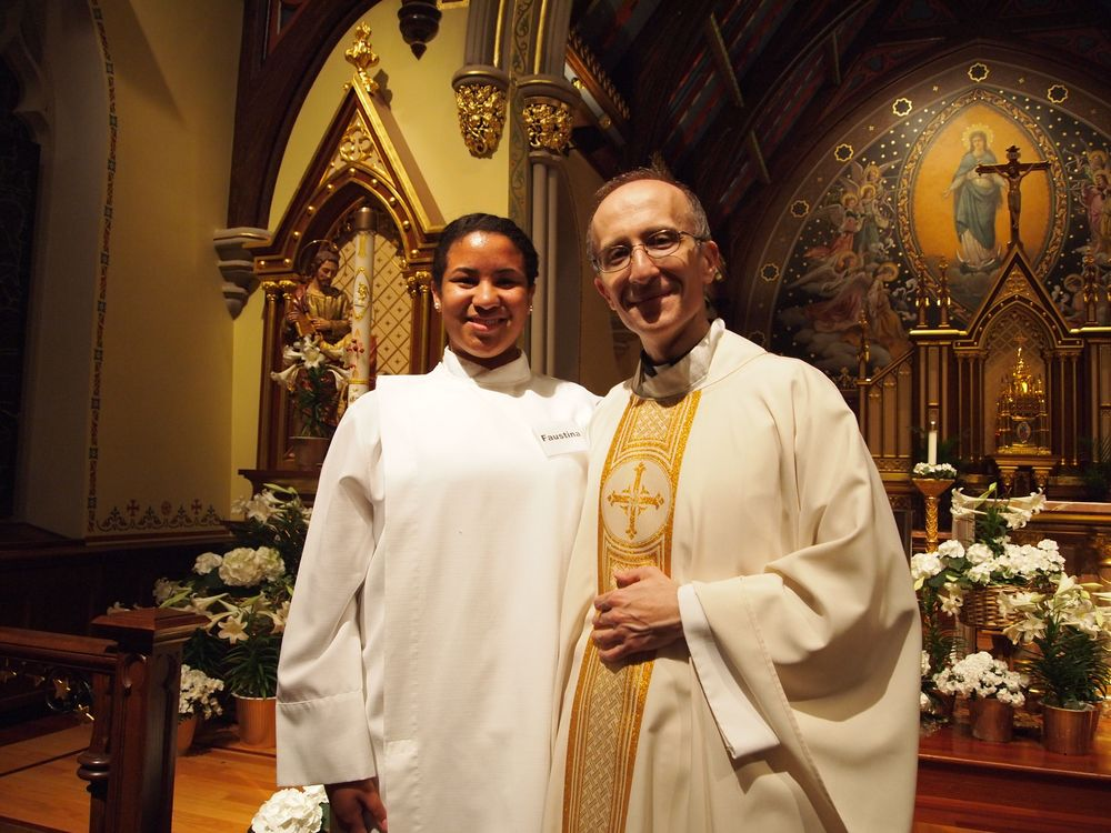 Nicole with Monsignor Anthony Ziccardi