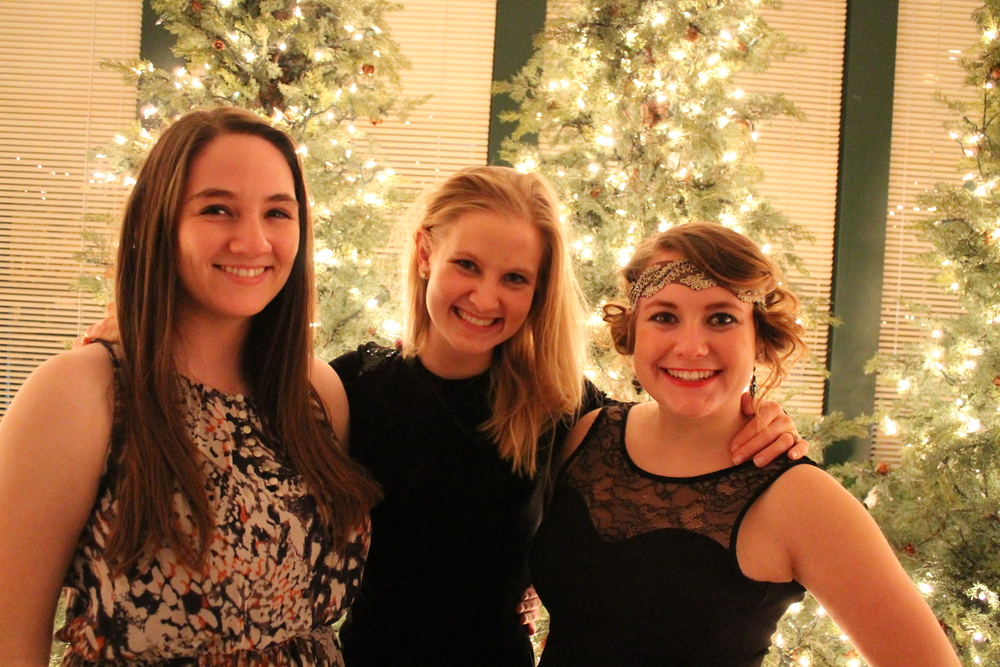 From Left: Madison, Anna (Missionary), and Emily on far right at SPO's 2015 Winter Formal