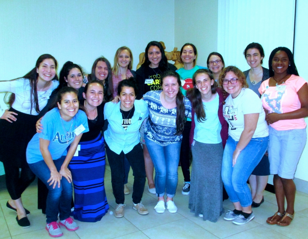 The pioneering group of women who traveled to alabama for a week-long service trip to serve the elderly poor