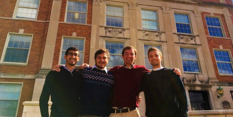 Men's household at odu (Sam, 2nd from the left)