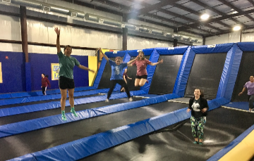 Jumping it up at the trampoline park