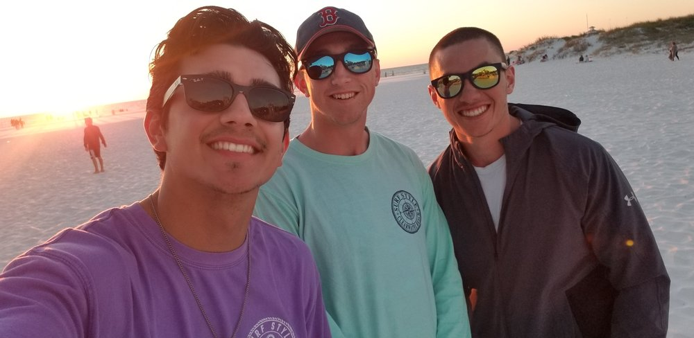 spo bros and i during spring break 2018.  Two words to describe our spring break: conversion and brotherhood