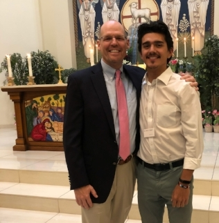 Mr. Rich and i after the easter vigil.  Mr. Rich mentored me in my conversion to the catholic faith. he was my confirmation sponsor as i entered the church.