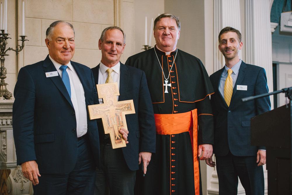 John Miller, Gordy DeMarais, Cardinal Joseph W.Tobin, and Ed Moccia