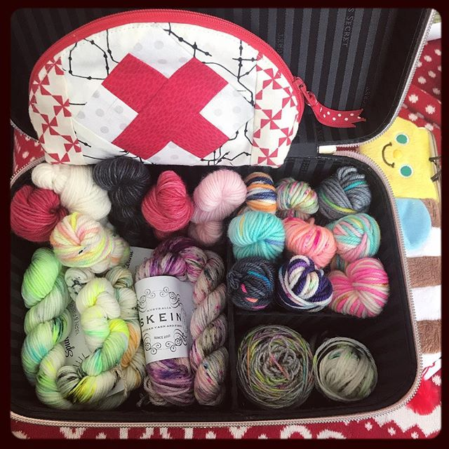 .a little peek at my mini-skein stash - some will become parts of bigger projects, but most will end up as some magical little creature wearing a dress or jumper 🤓love small bright knitting projects during the long dark winter. #winterknits + + #JenOsborn #themessynest #madknitterwoman #knittersofinstagram #instaknits #teenyknitting #thelemonadeshop #skeinyarn #spunrightroundyarn