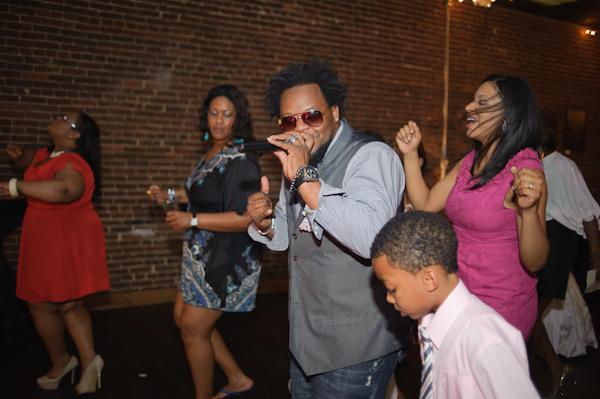 Dancing at wedding reception.