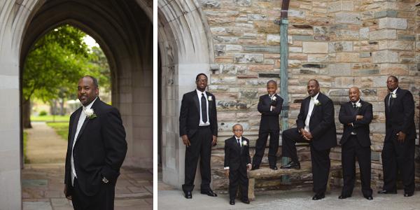 Groom and groomsmen at Scarritt Bennett.