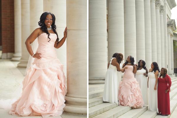 Bride and bridesmaids at Vanderbilt University.
