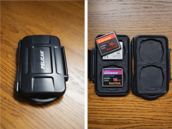Immediately after a shoot, the memory cards go into a waterproof, crushproof case that keep on me until I get home.