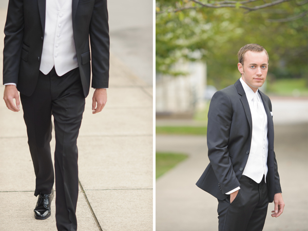 Groom walking, natural light portrait