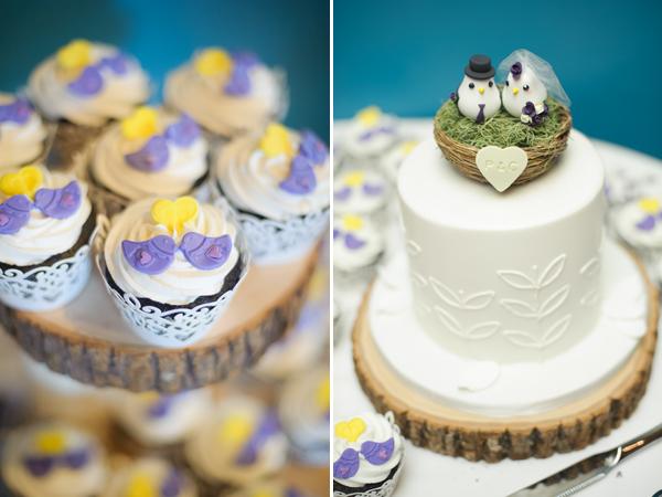 Vegan cupcakes and cake.