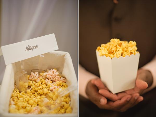 Popcorn buffet, bucket.
