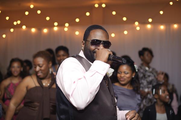 DJ leading dancing.