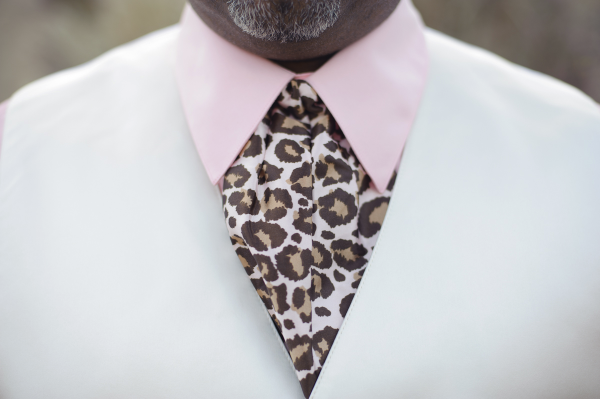 Groom's ascot and vest.