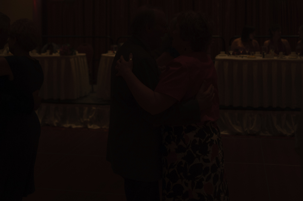 Dark image of Nashville wedding reception.