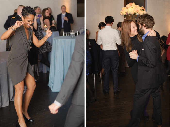 Wedding guests dancing at Ruby in Nashville.