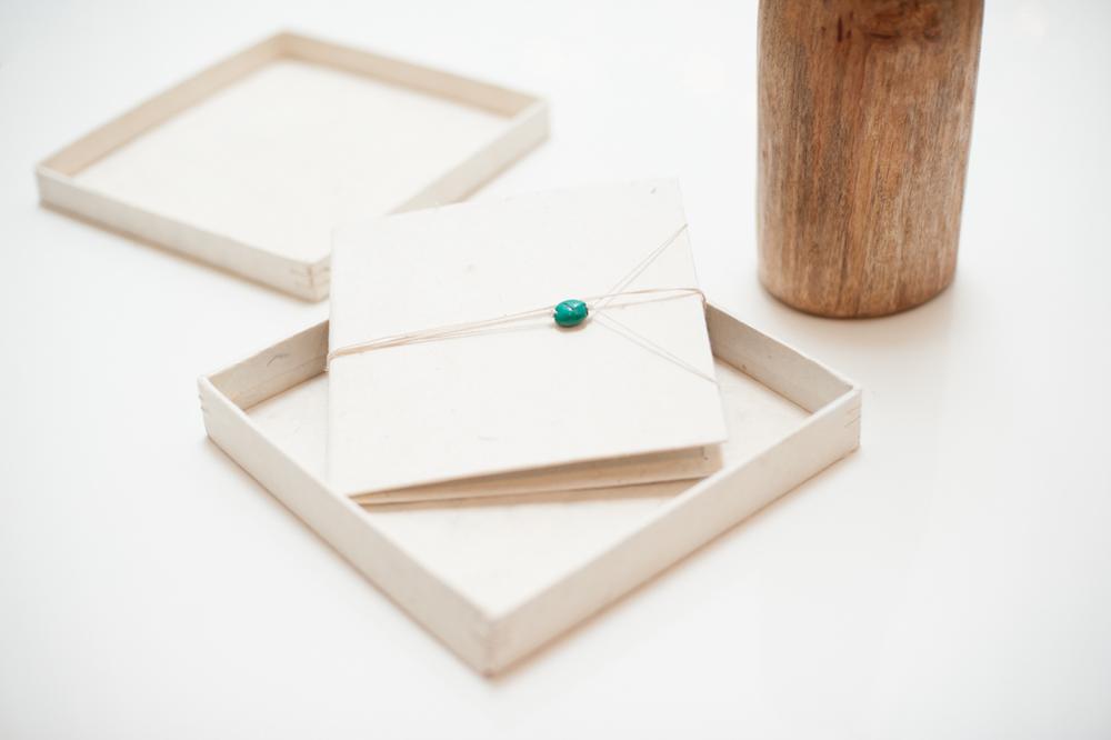 Handmade display box for wedding images.