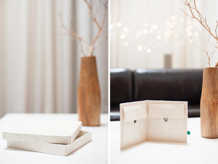 Wedding photography DVD case and storage box.