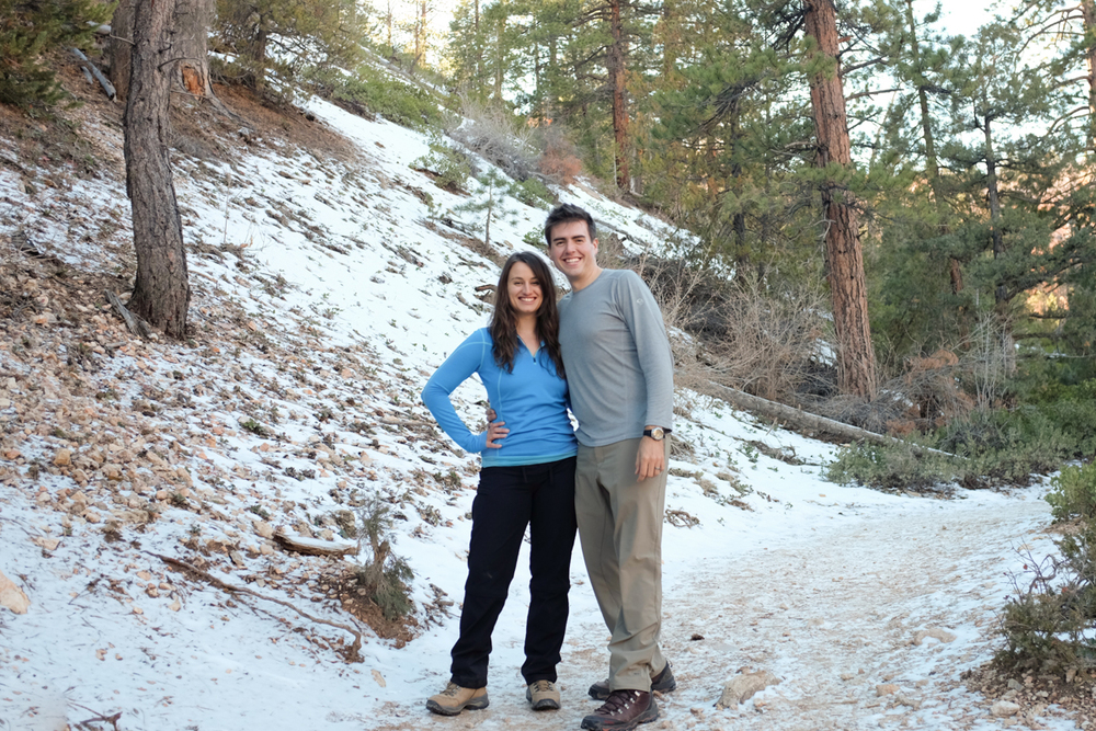 Ian and Michaela in Utah, with snow!