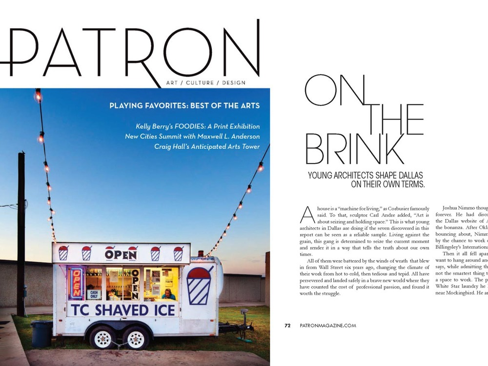 patron magazine on the briink