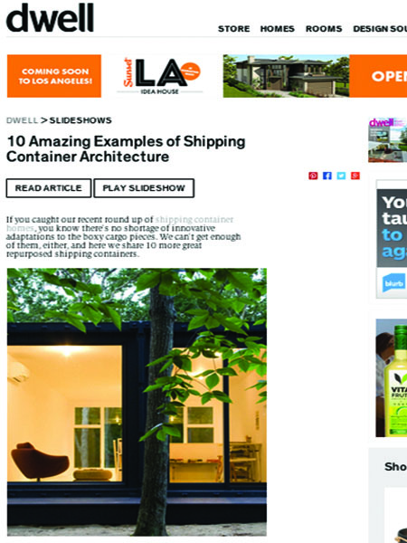 2012.7icon Dwell Shipping Containers