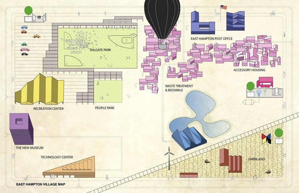 Map of East Hampton Village, NY
