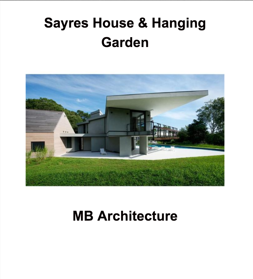 Sayres House