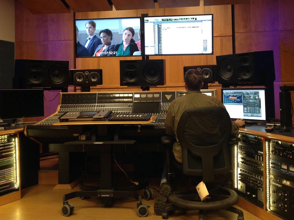 Mixing Liberty's Secret at UofM's studio - photo courtesy Andy Kirshner