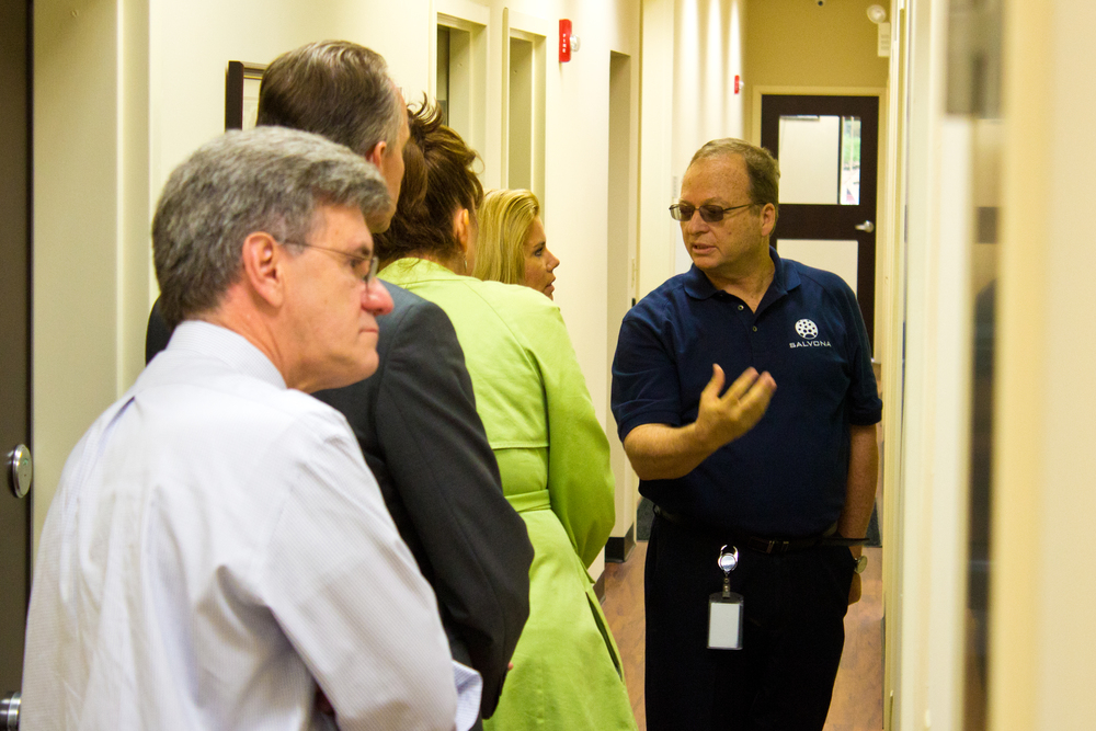 Dr. Sam Shefer and Dr. Martin Haberl lead a tour of local officials and Sherute project managers throughout the site.