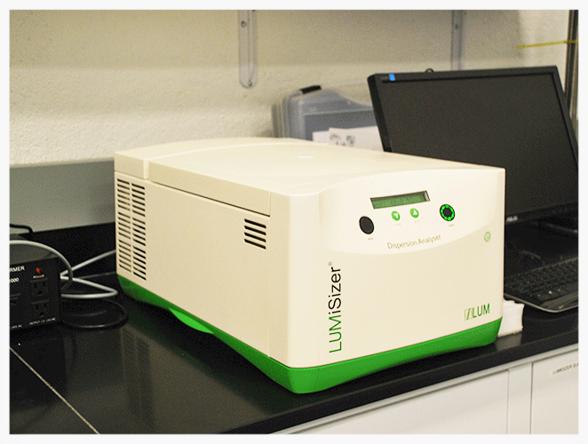 Salvona's LUMiSizer® Dispersion Analyzer waiting for the next round of samples.