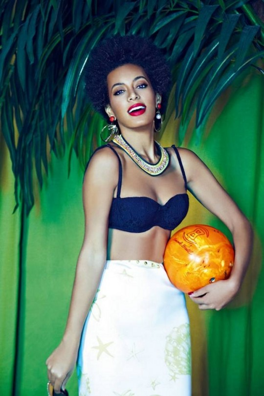 We know she's not wearing any African designers but its Solange, we couldn't help it. Image via Evening Standard