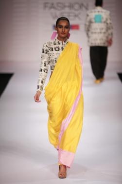 Masaba Gupta camera print sari S/S'12