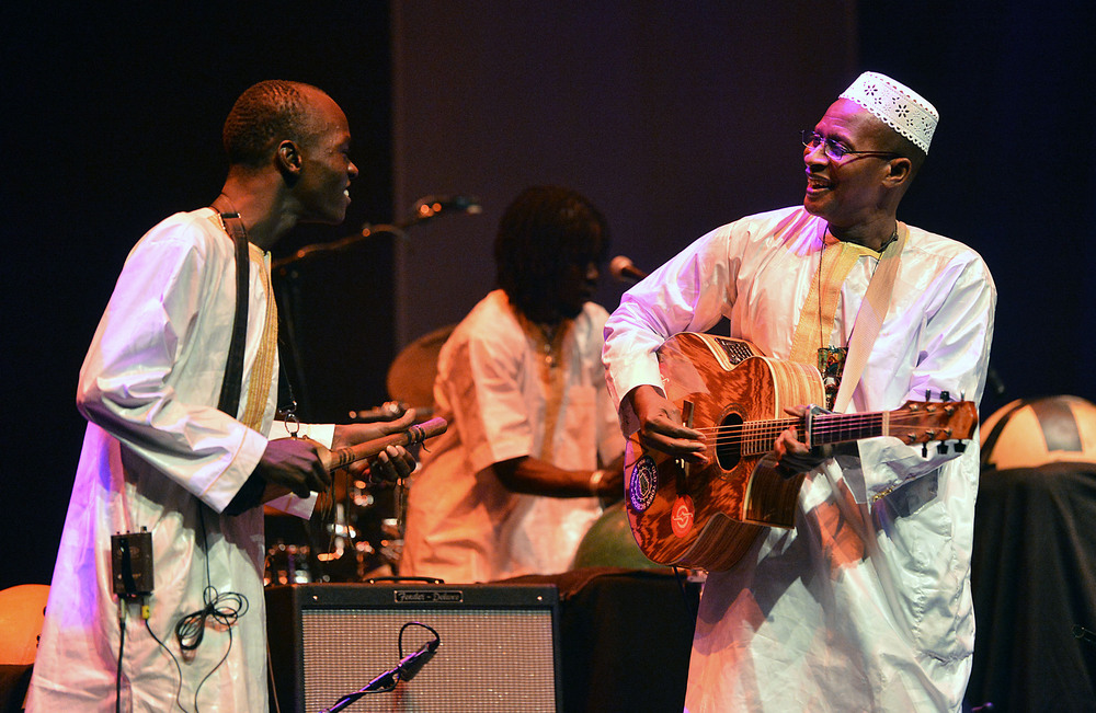 Sidi Toure. Photographer: Mark Allan, taken at The Barbican Centre