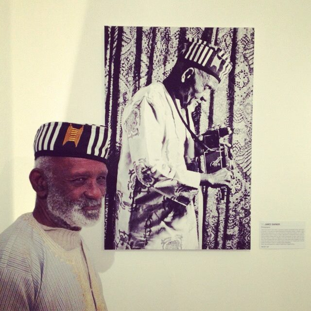 Legendary Ghanaian photographer James Barnor captured by Simon Frederick, and by SBA :-)
