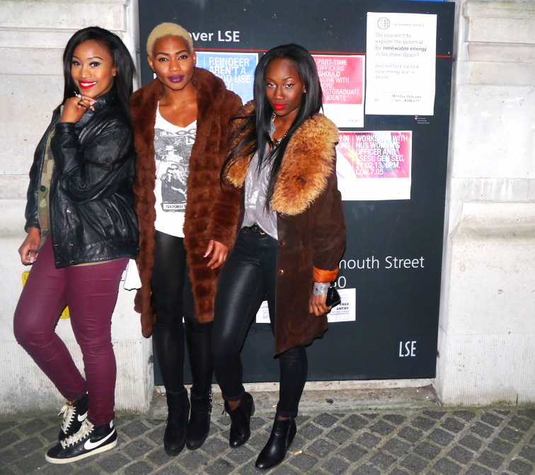 The gorgeous Nqobile, Ezinne and Soliat  of the CEO Dancers