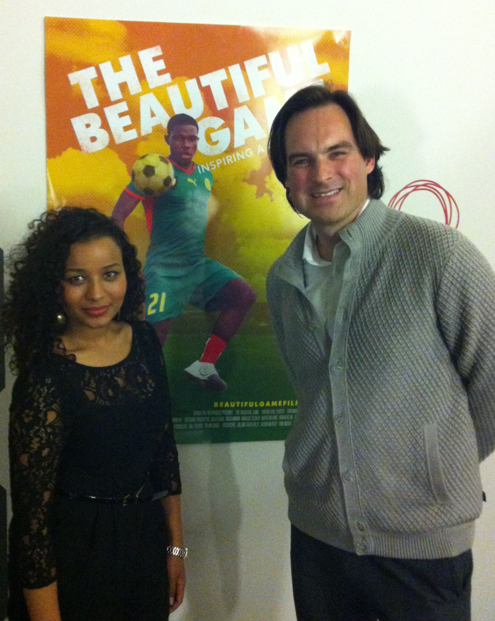 Cheesy posing with Beautiful Game director Victor Buhler