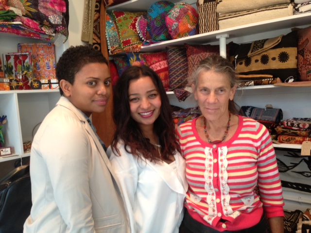 Kiran and I with Malika from Rachel & Malika