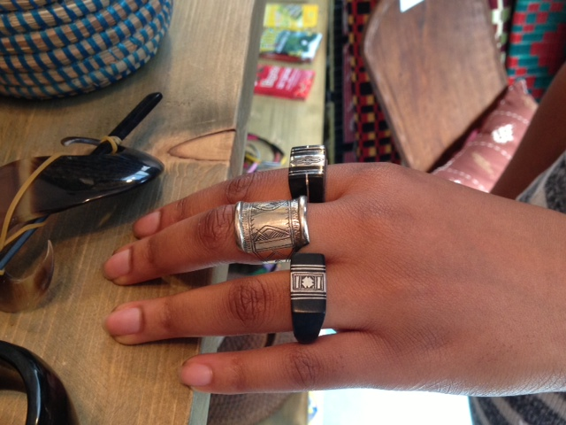 Black and silver Tuareg rings