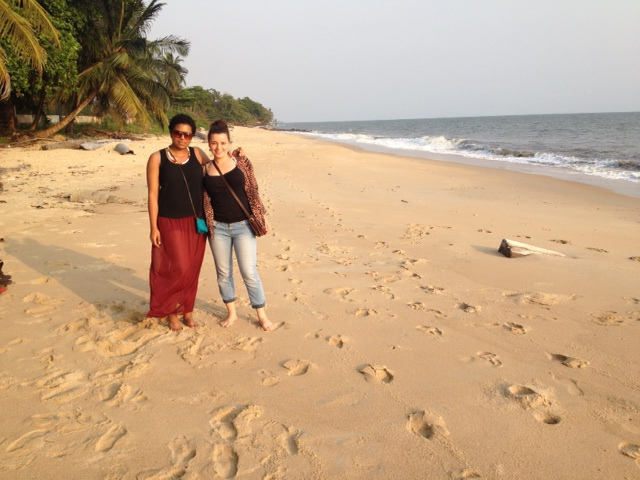 Hannah and I exploring Libreville's seaside.