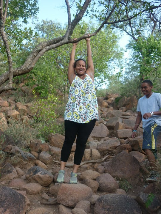 My brother and sister conquering Kgale.