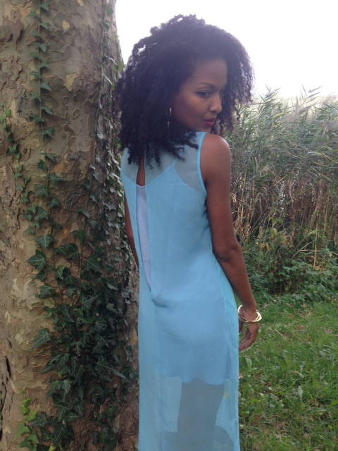 Claudia in Sindiso Khumalo Aretha Silk Georgette Dress.
