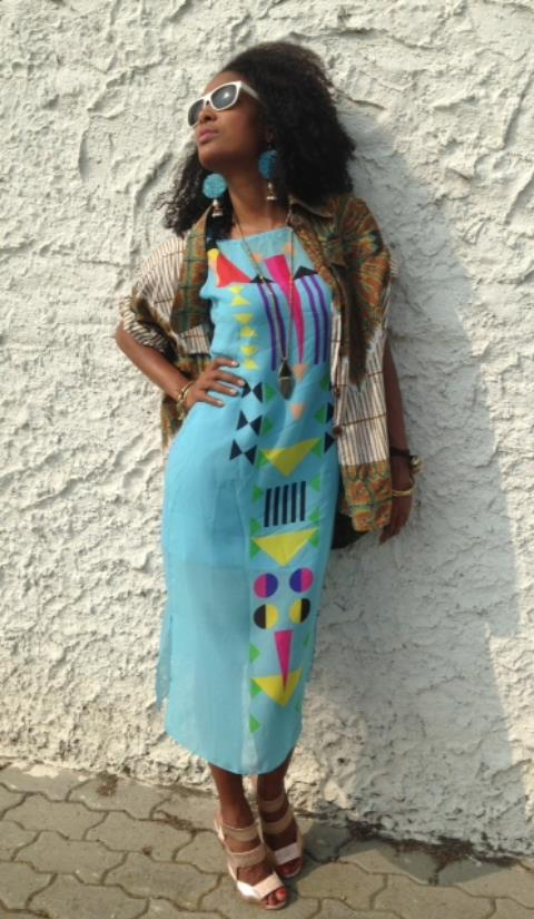 Claudia in Sindiso Khumalo Aretha Silk Georgette Dress