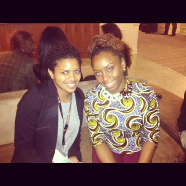 Kiran with Chimamanda Adichie at TEDxEuston 2012