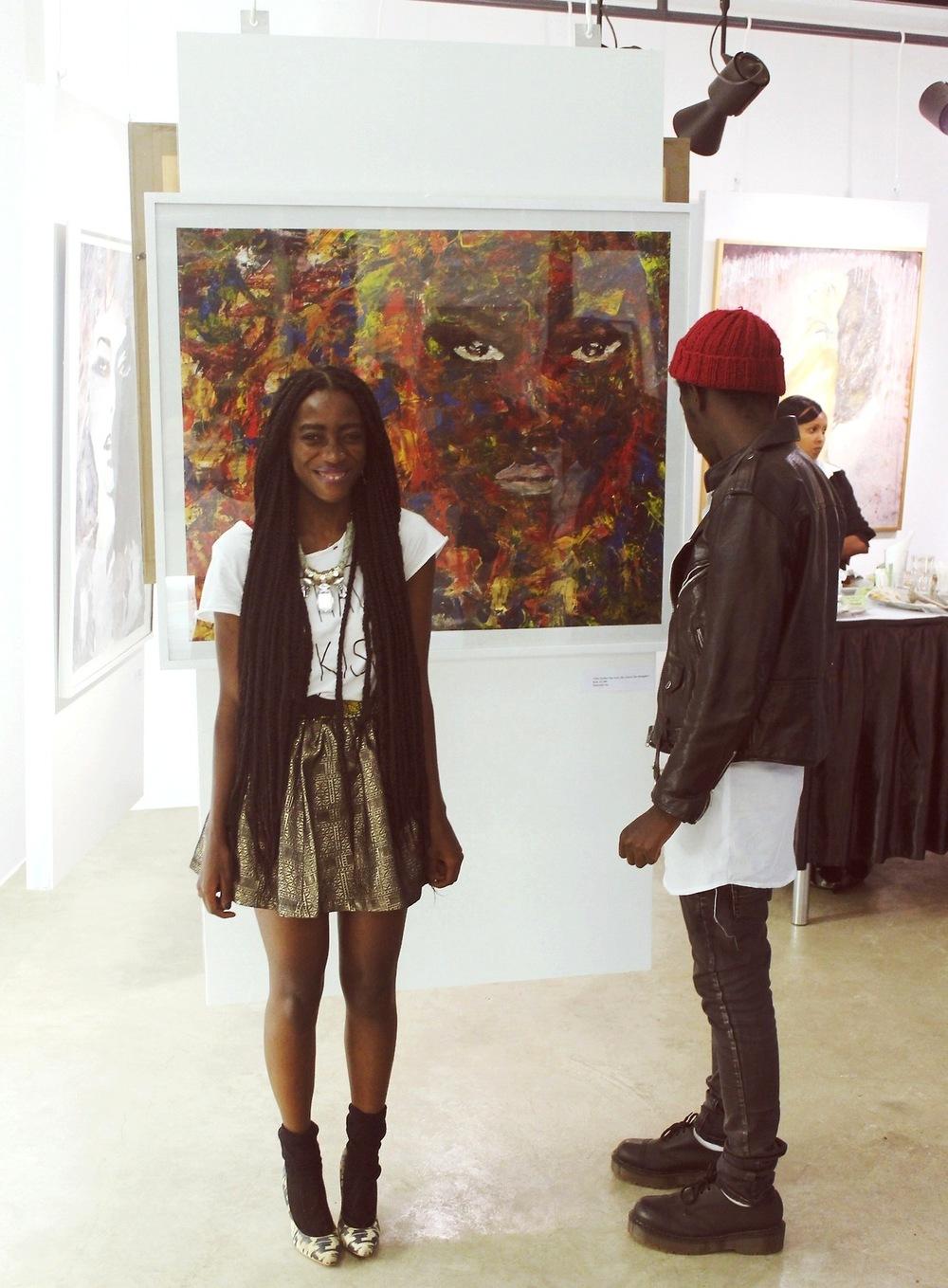 Velma and Papa at an art exhibition bySEBAWALI SIO.
