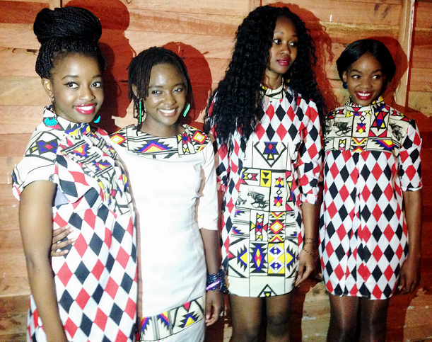 Tanya (3rd from left) with models showcasing the Nikko Frikko Diamond Tribe collection