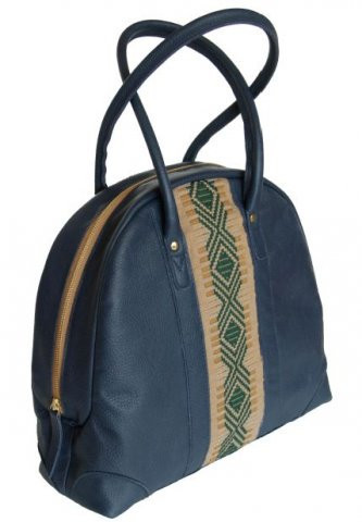 ZAAF Collection Blue Spruce Leather Handbag