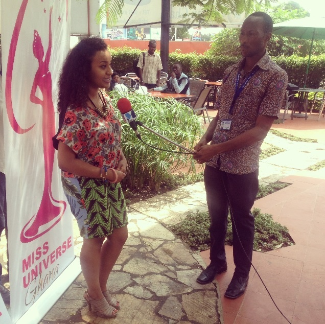 Alae giving face in an interview for Joy TV.