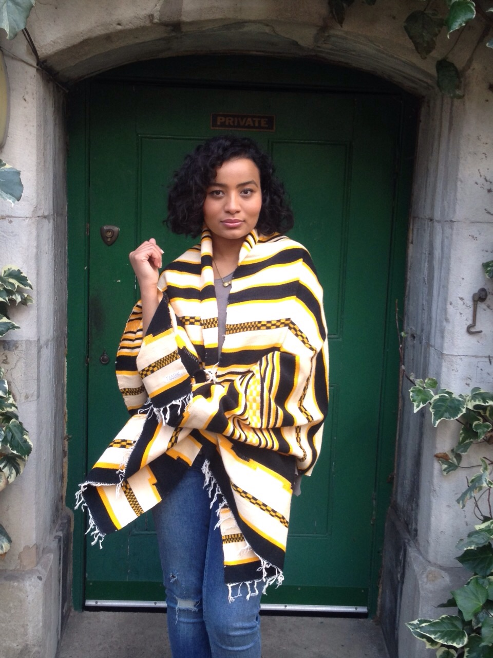 Dorza Yellow Taarik scarf, London